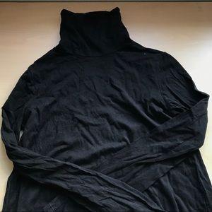 Basic black cotton turtleneck Zara